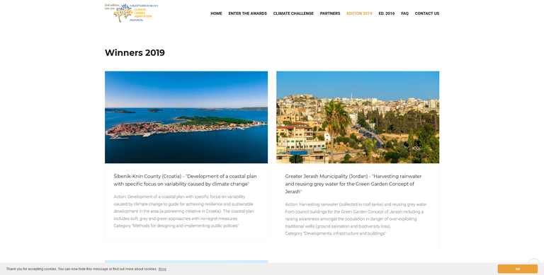 Mediterranean Climate Change Adaptation Awards 2018-2019