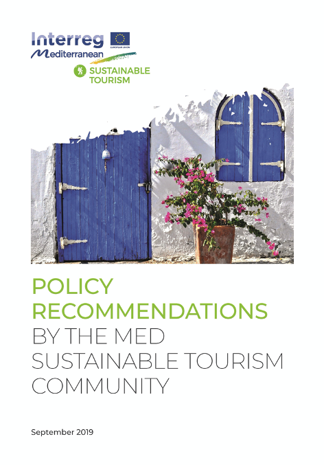 POLICY RECOMMENDATIONS BY THE MED SUSTAINABLE TOURISM COMMUNITY