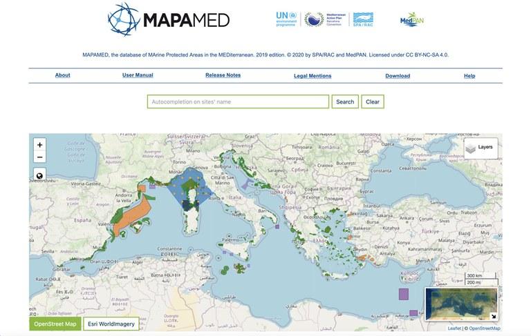 Nouvelle édition de MAPAMED, la base de données des Aires marines protégées de Méditerranée